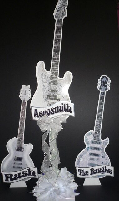 wedding guitar centerpieces