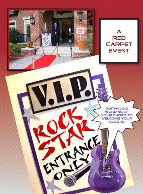 rock star entrance signs