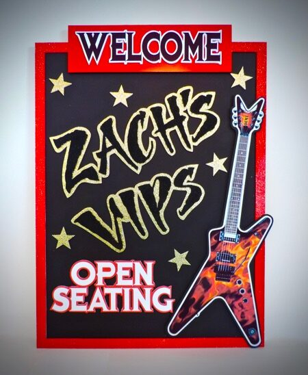 vip welcome sign for open seating