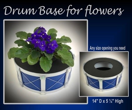 drum base for flowers