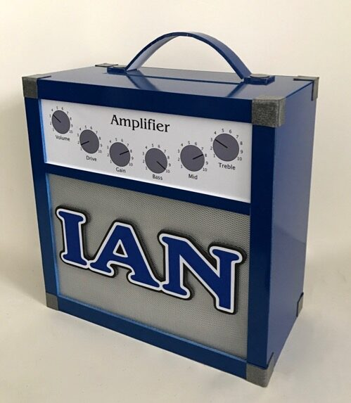 amp gift card box in blue