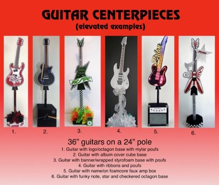 Elevated guitar centerpieces