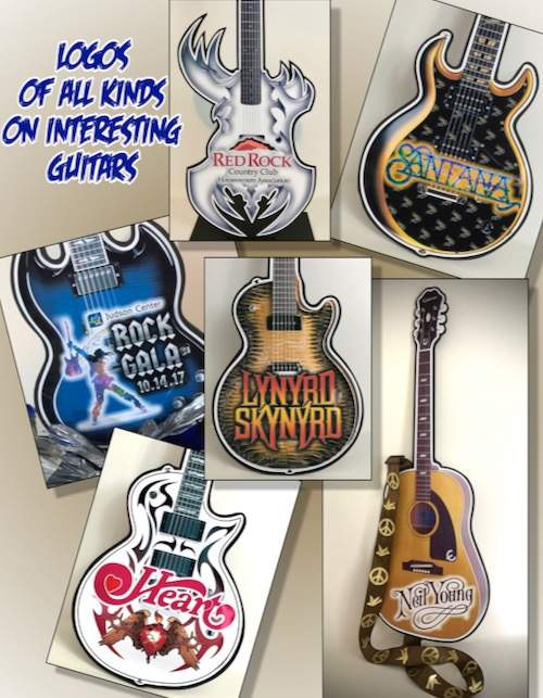 foamcore guitars with logos